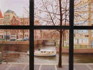 Canal (from Rembrandt Museum lobby) (Amsterdam) (2004)