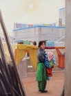 Taking Down the Washing  (My sister Pratibha, Amritsar, India) (2004)